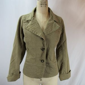 AMI XL Tan Khaki Button Down Coat EUC